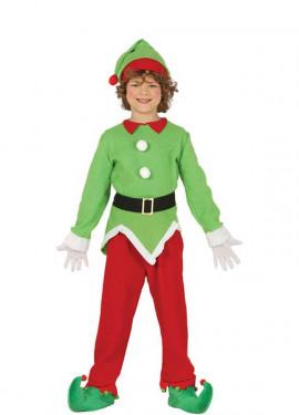 Disfraz de Elfo Rojo y Verde para niño