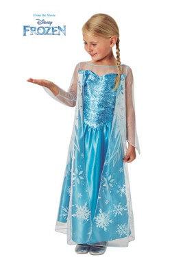 Déguisement classique glacé d'Elsa pour fille
