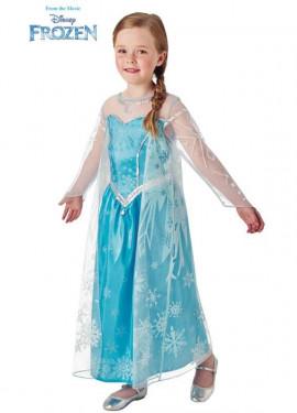Disfraz de Elsa de Frozen deluxe para niña
