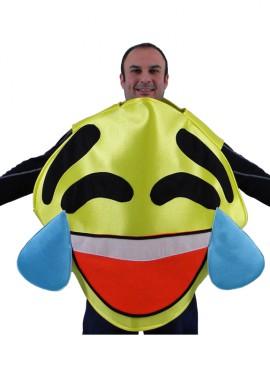 Disfraz de Emoticono Sonrisa con Lágrimas amarillo adultos