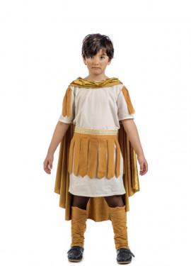 Disfraz de Emperador Romano Dorado para niño