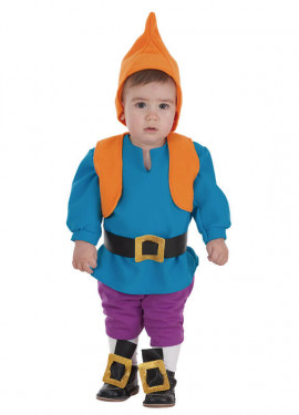Disfraz de Enanito azul para bebé