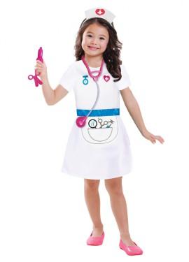Disfraz de enfermera para niñas de 3 a 6 años