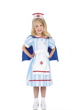 Disfraz de Enfermera Retro o Vintage para Niña