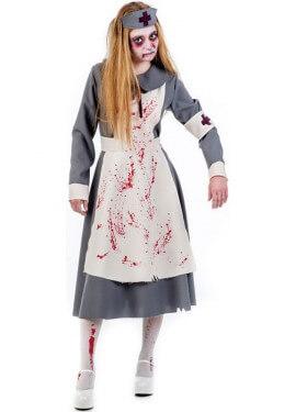 Disfraz de Enfermera Zombie de la 1ª GM para mujer