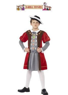 Disfraz de Enrique VIII de Historias Horribles para niño