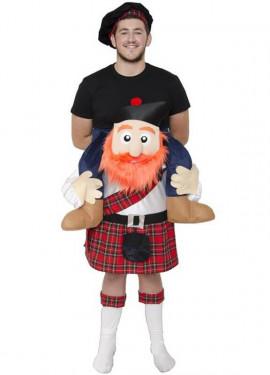 Déguisement Écossais sur épaules pour adultes