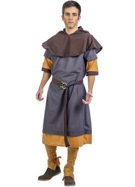 Disfraz de Escudero Medieval Fabrice para hombre