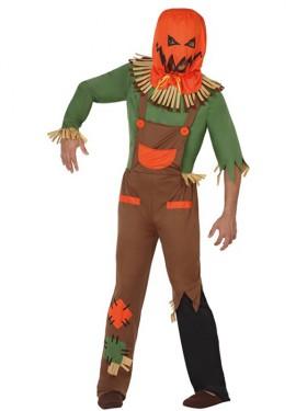 Disfraz de Espantapájaros Calabaza para Halloween