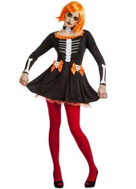 Disfraz de Esqueleta Calabaza para mujer