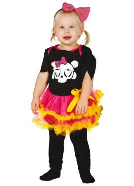 Disfraz de Esqueleto Baby tutú