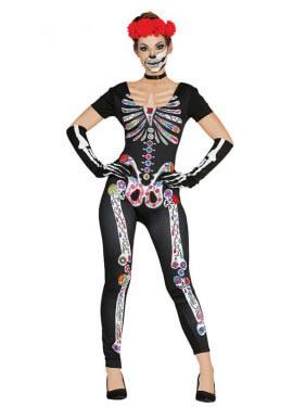 Déguisement de Squelette Dia de los Muertos pour femme