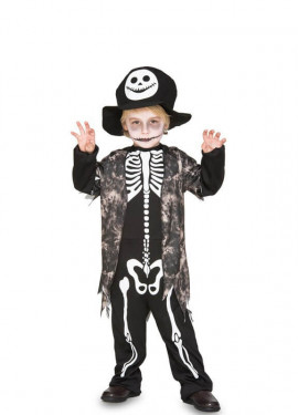 Déguisement de Squelette avec gilet pour garçon