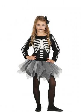 Déguisement de Squelette avec tutu pour fille