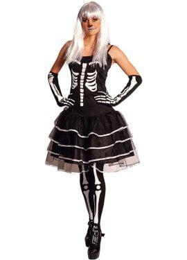 Disfraz de Esqueleto de gala para mujer