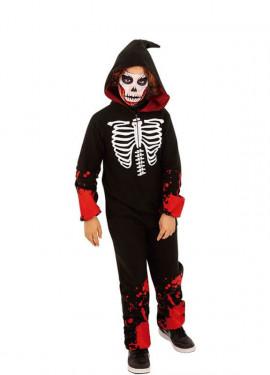 Disfraz de Esqueleto Ensangrentado para niños