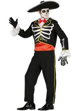Déguisement de Squelette Mariachi ou Dia de los Muertos pour homme