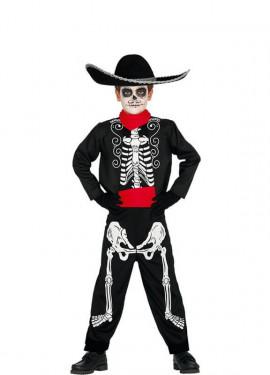 Costume scheletro mariachi per un bambino