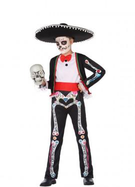 Déguisement de Squelette Méxicain pour garçon