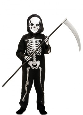 Disfraz de Esqueleto Mortal para niño