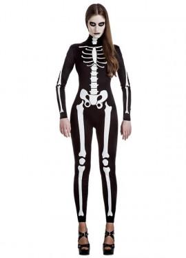 Disfraz de Esqueleto Mujer para mujer