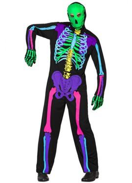 Déguisement Squelette Multicolore pour homme plusieurs tailles