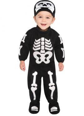 Disfraz de Esqueleto para bebés de 6 a 12 meses para Halloween