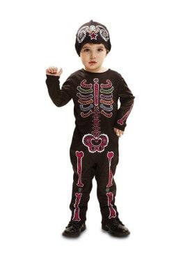 Disfraz de Esqueleto para bebés y niños para Halloween
