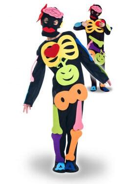 Disfraz de Esqueleto Puzzle para niña