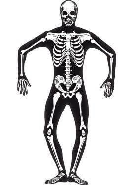 Disfraz de Esqueleto Segunda Piel para hombre