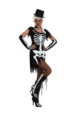 Disfraz de Esqueleto sexy para mujeres talla M-L