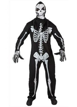 Disfraz de Esqueleto viviente hombre de Halloween