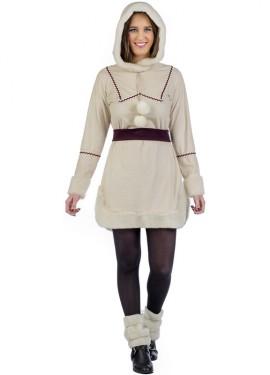 Disfraz de Esquimal Blanco para mujer