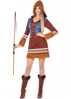Disfraz de Esquimal con Capucha para mujer