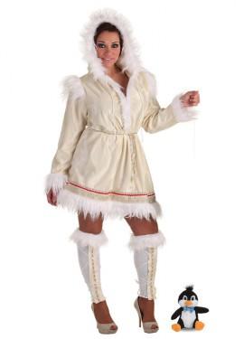 Disfraz de Esquimal CON peluche para mujer