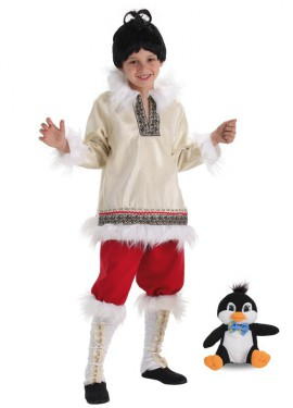 Disfraz de Esquimal CON peluche para niño