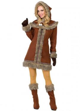 Déguisement esquimau marron femme