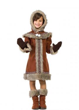 Costume eschimese marrone per bambina