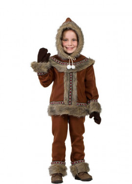 Costume eschimese marrone per bambino