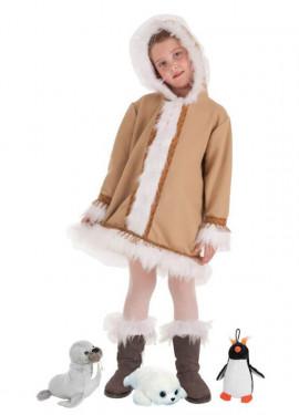Disfraz de Esquimal con Peluche surtido para niña