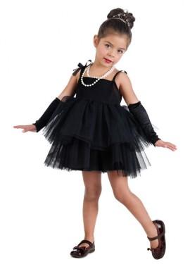 Disfraz de Estrella de cine de Holly negro para niña