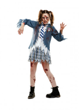 Disfraz de Estudiante Zombie chica para mujer