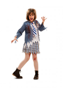 Disfraz de Estudiante Zombie chica para niñas de Halloween