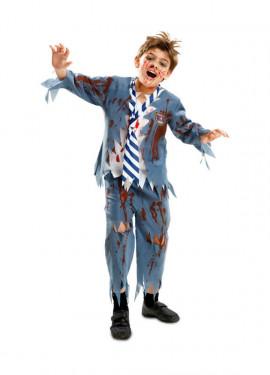 Disfraz de Estudiante Zombie chico para niños de Halloween