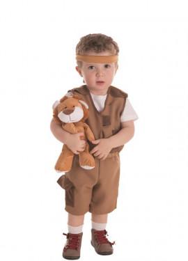 Costume da bambino marrone Explorer