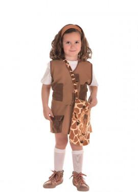 Costume da esploratore marrone per bambina