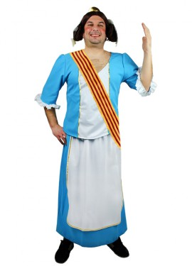 Disfraz de Fallera azul para hombre