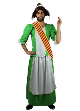 Disfraz de Fallera verde para hombre