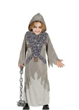 Disfraz de Fantasma con cadenas para niños