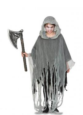 Disfraz de Fantasma gris para niños